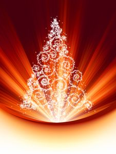 Christmas Tree Card. EPS 8 Royalty Free Stock Photos
