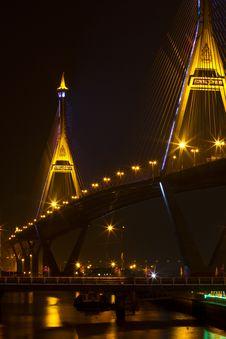 Free King Bhumiphol Bridge Stock Image - 17571051