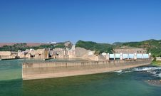 Water Electricity Plant And Dam Stock Photography