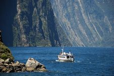 Free A Ferry Trip To Milford Sound Royalty Free Stock Photography - 17571537