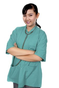 Free Surgeon Wearing Scrub Royalty Free Stock Images - 17571959