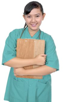 Free Surgeon Wearing Scrub Royalty Free Stock Images - 17571989