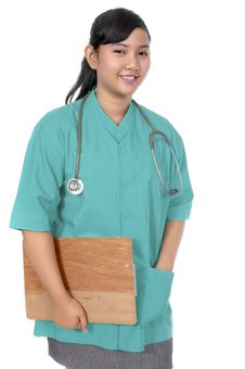 Free Surgeon Wearing Scrub Stock Photography - 17572012