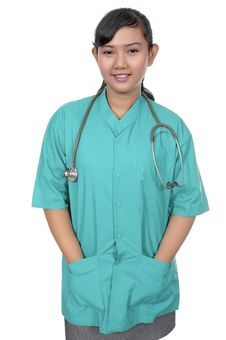 Free Surgeon Wearing Scrub Royalty Free Stock Photos - 17572028