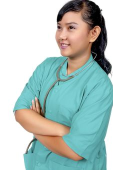 Free Surgeon Wearing Scrub Royalty Free Stock Images - 17572139