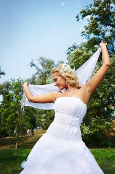 Free Beautiful Bride With White Cloth Stock Images - 17572224