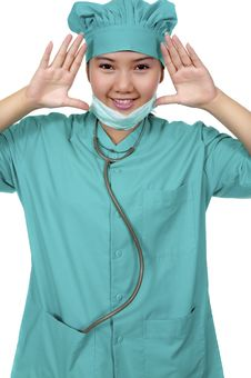 Free Surgeon Wearing Scrub Royalty Free Stock Images - 17572249