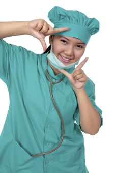 Free Surgeon Wearing Scrub Royalty Free Stock Photography - 17572267