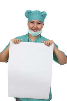 Free Surgeon Wearing Scrub Royalty Free Stock Photos - 17572278
