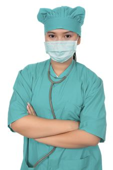 Free Surgeon Wearing Scrub Royalty Free Stock Photography - 17572297