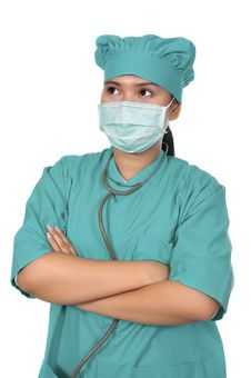 Free Surgeon Wearing Scrub Stock Images - 17572304