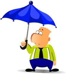 Free Businessman Under Umbrella Royalty Free Stock Images - 17572889
