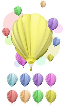 Free Color Balloon Royalty Free Stock Photography - 17573377