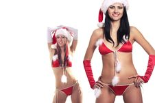 Free Sexy Playful Santas Royalty Free Stock Photography - 17573457