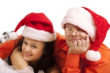 Free Lovely Christmas Couple Royalty Free Stock Images - 17573479