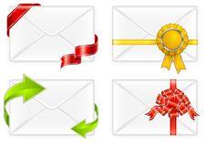 Free Envelopes With Bow Stock Photo - 17573480