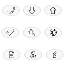 Free Communication Icons Stock Images - 17573624