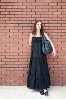 Woman Is Waiting Royalty Free Stock Photography