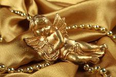 Little Golden Angel Stock Photos