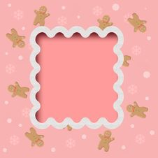 Free Pink Cookie Frame Royalty Free Stock Photo - 17573825