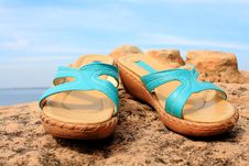 Free Shoes With The Sky.. Stock Photos - 17574523