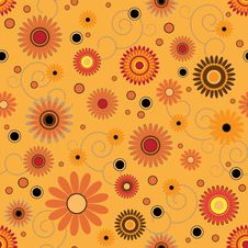 Free Seamless Pattern With Colorful Flowers Stock Images - 17574724