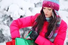Free Winter Shopping Royalty Free Stock Images - 17575419