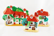 Toy Mediterranean  Country Stock Photography