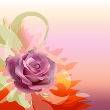 Free Abstract Background With A Rose Royalty Free Stock Photography - 17575717
