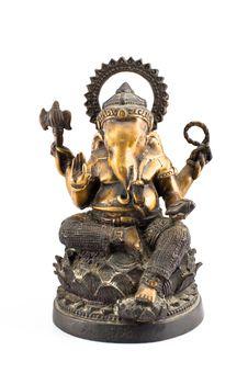 Free Ganesh Brass Sit On Lotus Stock Images - 17575974