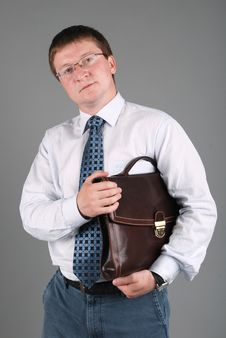 Free Businessman With Briefcase Stock Image - 17576121
