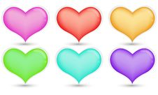 Free Colorful Heart Royalty Free Stock Photography - 17576637