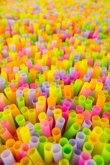 Free Colorful Plastic Straw Background Pattern Royalty Free Stock Images - 17576689