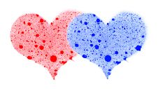Two Hearts. Royalty Free Stock Photography