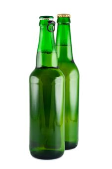 Two Bottles Of Beer. Royalty Free Stock Images