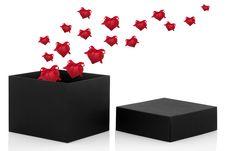 Valentine Gift Box Royalty Free Stock Photos