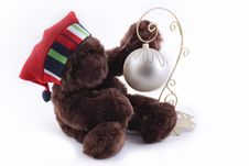 Free Bear With Christmas Decor Stock Images - 17578874