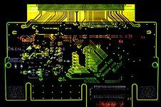 Free Glowing Circuit Board Stock Image - 17579011