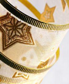 Free Golden Christmas Ribbon Royalty Free Stock Image - 17579376