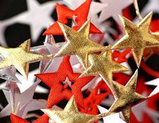 Ribbon Of  Stars Royalty Free Stock Photos