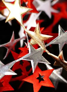 Ribbon Of  Stars Royalty Free Stock Image