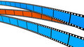 Free Two Blue And One Orange Film Stock Image - 17581961