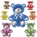 Free Set Of Color Teddy Bear With Bows Stock Images - 17582064