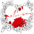 Free Inscription Love With Heart Stock Images - 17584874