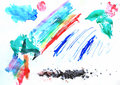 Free Abstract Hand Drawn Watercolor Background Stock Photos - 17585593