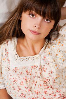 Beauty Brunette Royalty Free Stock Photo