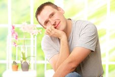 Handsome Man Resting Royalty Free Stock Photo