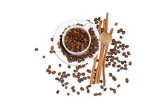Free Coffee Cup Coffee Beans Royalty Free Stock Photography - 17581297