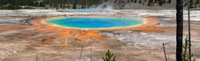 Grand Prismatic Spring Panoramic Stock Photography