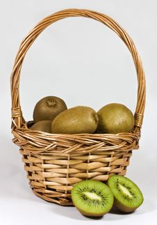 Free Kiwis In Basket Royalty Free Stock Images - 17581419